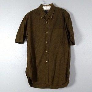Pendleton Mens Short Sleeve 100% Wool Shirt M